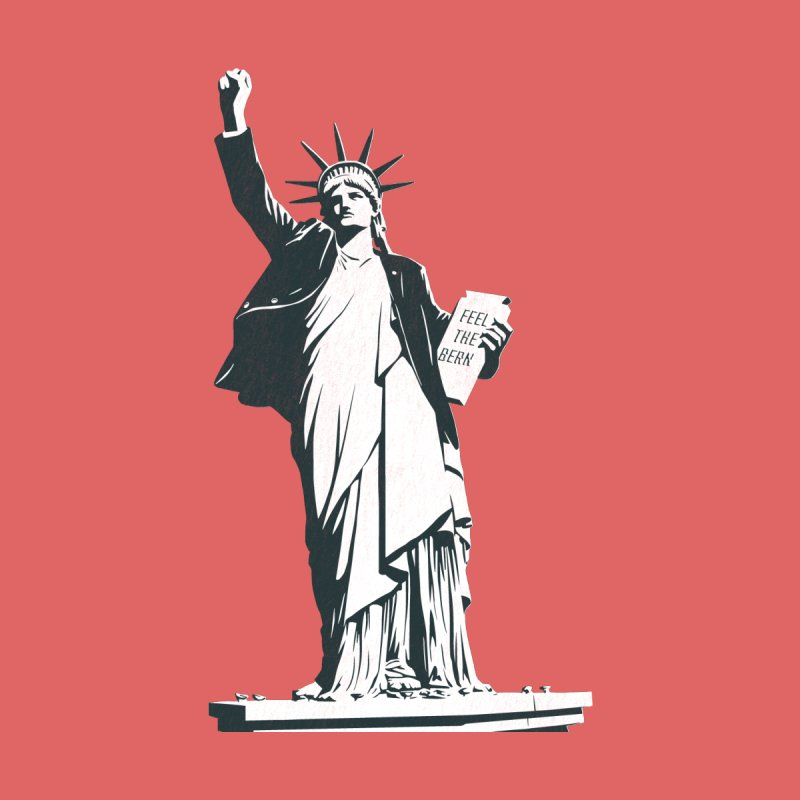 Statue of Libernie Men's T-Shirt by Bernie Threads