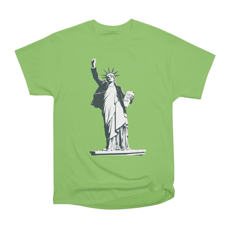 Statue of Libernie Men's Heavyweight T-Shirt by Bernie Threads