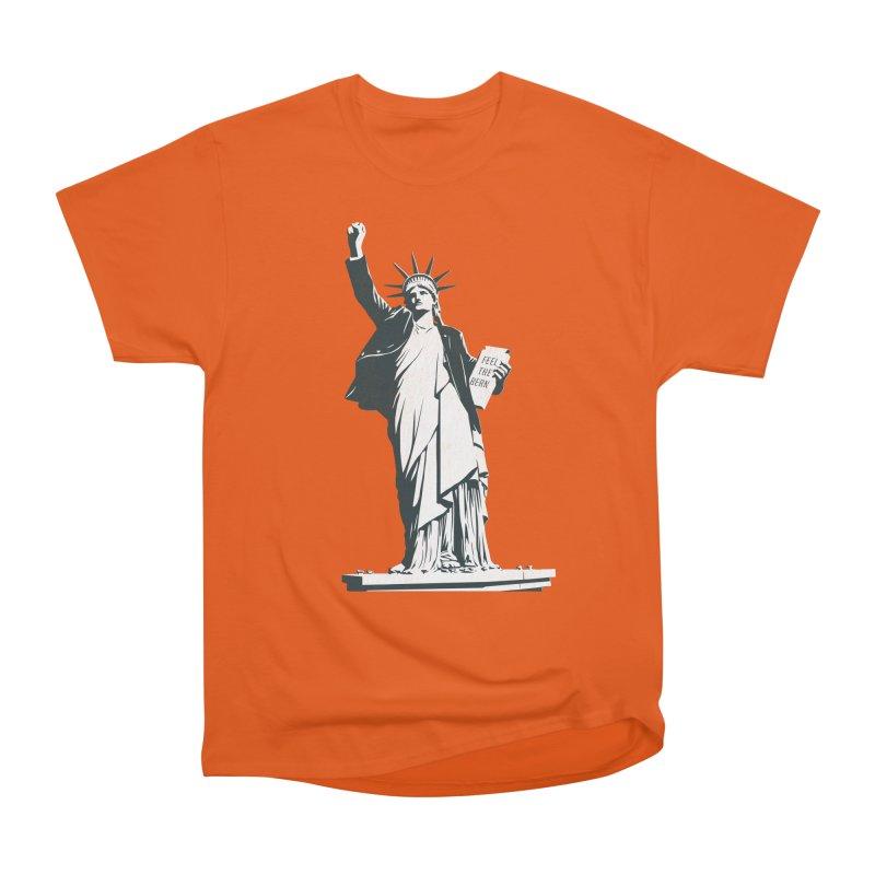 Statue of Libernie Women's Heavyweight Unisex T-Shirt by Bernie Threads