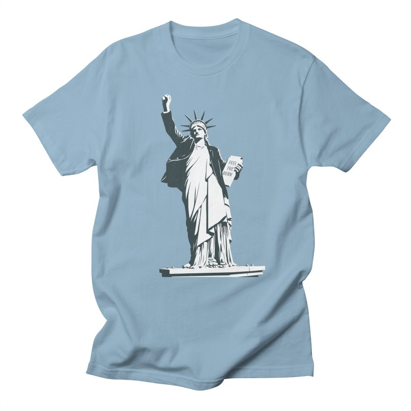 Statue of Libernie Men's Regular T-Shirt by Bernie Threads