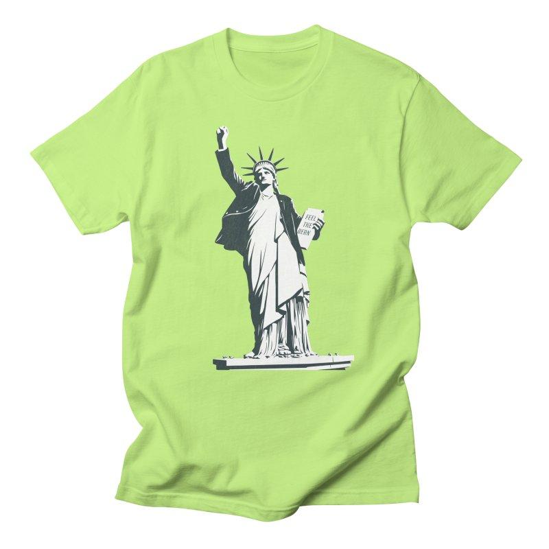 Statue of Libernie Men's Regular T-Shirt by Bernie Threads
