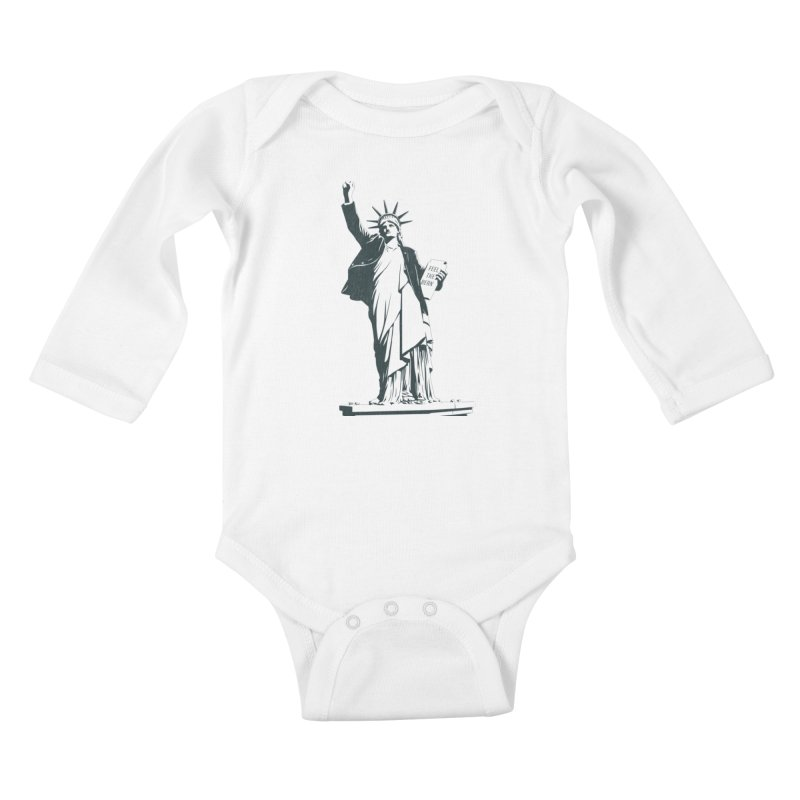 Statue of Libernie Kids Baby Longsleeve Bodysuit by Bernie Threads