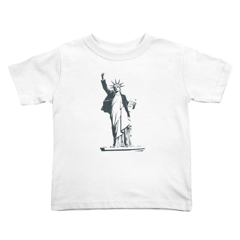 Statue of Libernie Kids Toddler T-Shirt by Bernie Threads