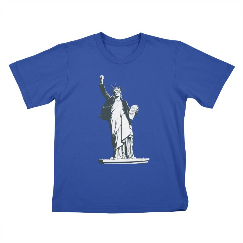 Statue of Libernie Kids T-Shirt by Bernie Threads