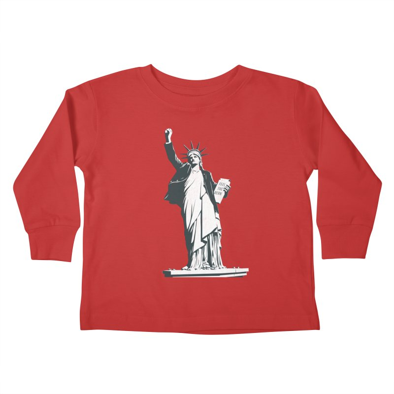 Statue of Libernie Kids Toddler Longsleeve T-Shirt by Bernie Threads