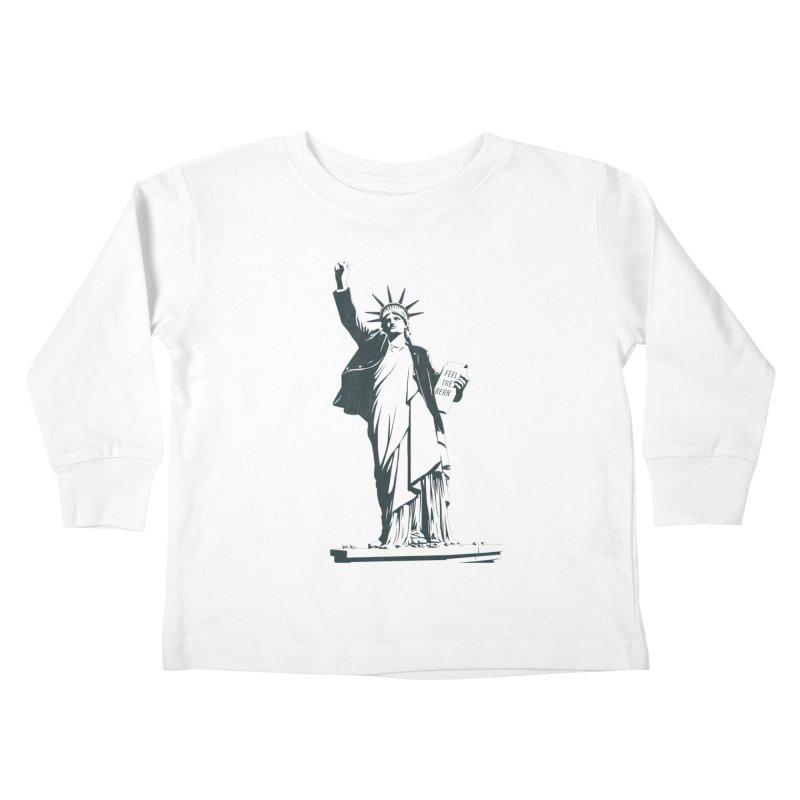 Statue of Libernie Kids Toddler Longsleeve T-Shirt by Bernie Threads