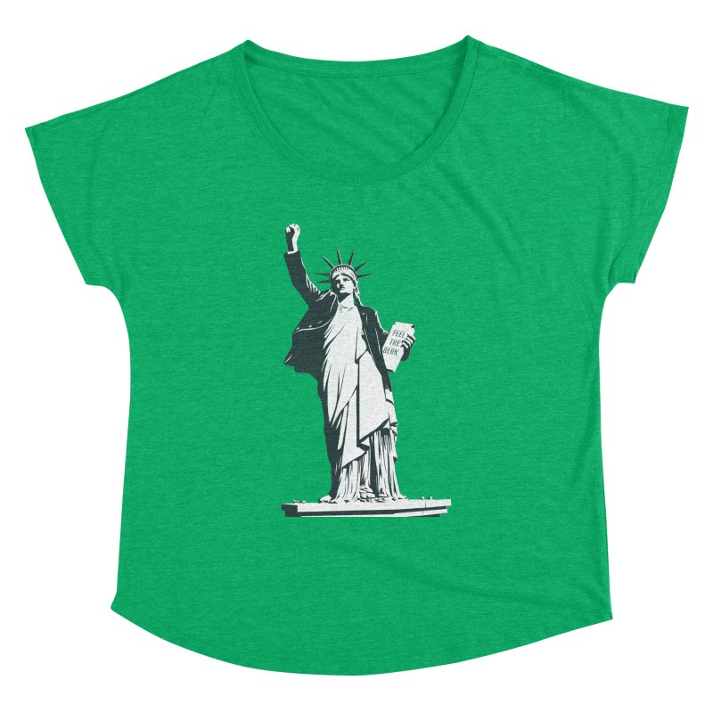 Statue of Libernie Women's Dolman Scoop Neck by Bernie Threads