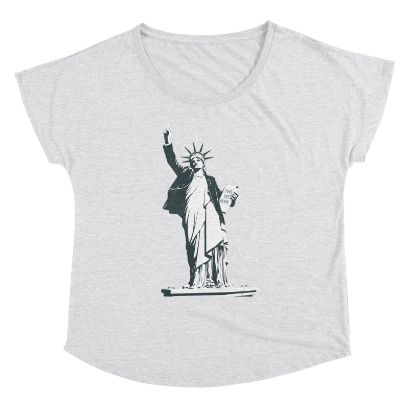 Statue of Libernie Women's Dolman Scoop Neck by Bernie Threads
