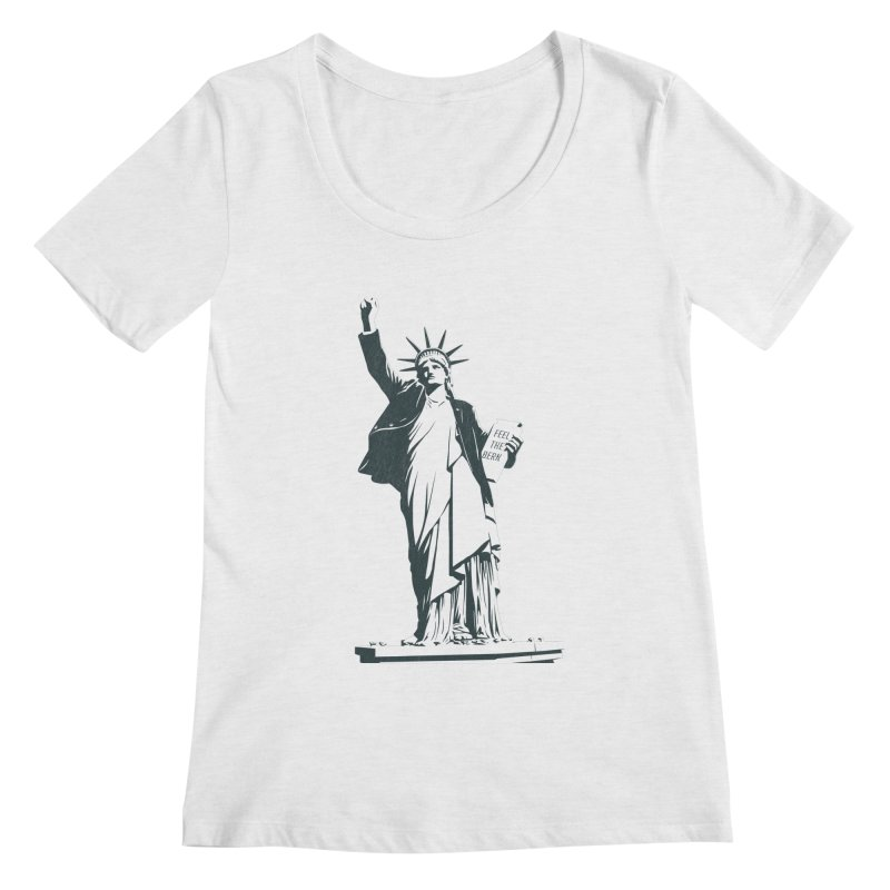 Statue of Libernie Women's Scoop Neck by Bernie Threads