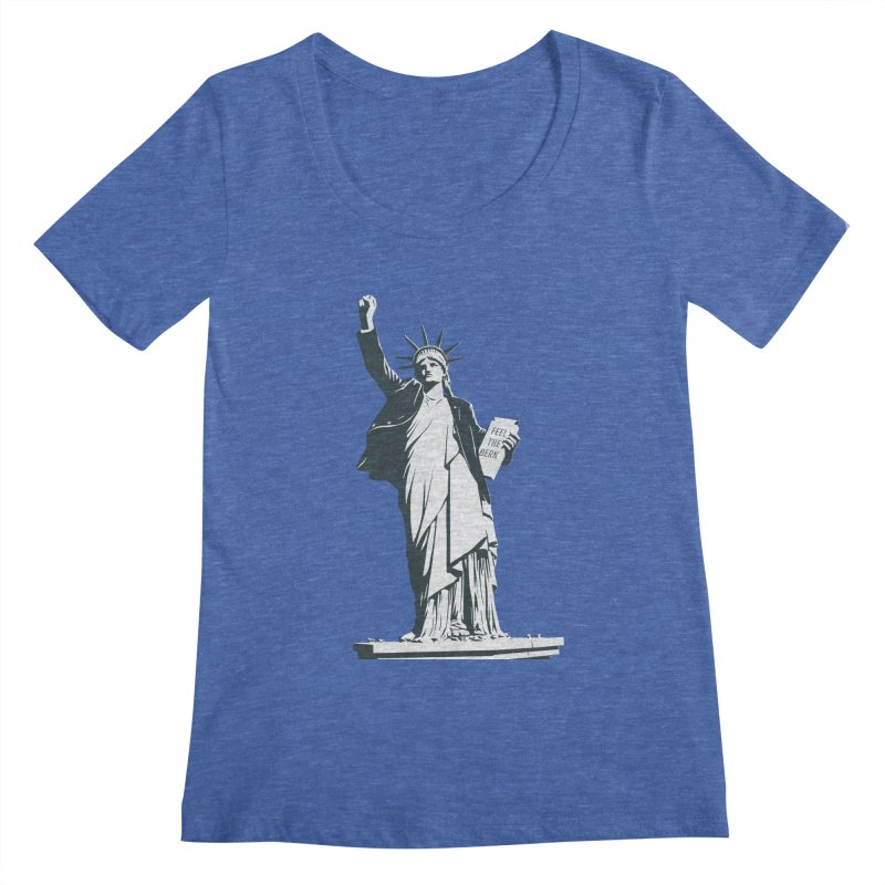 Statue of Libernie Women's Scoopneck by Bernie Threads