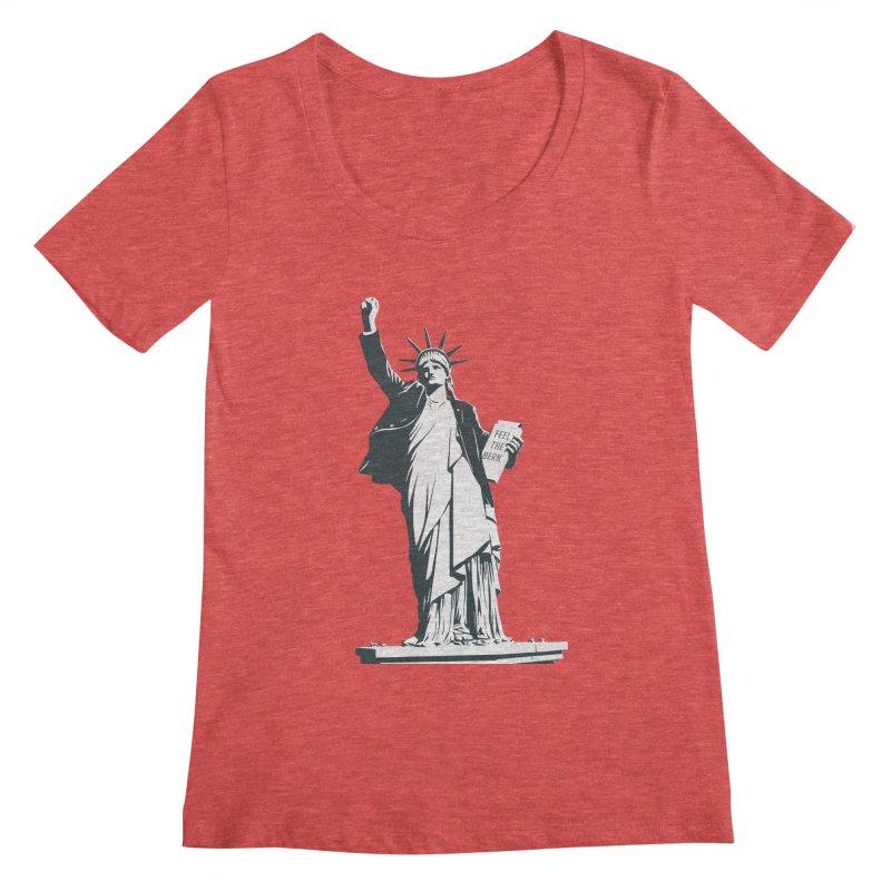 Statue of Libernie Women's Scoop Neck by Bernie Threads