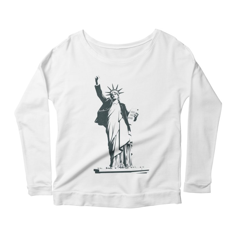 Statue of Libernie Women's Scoop Neck Longsleeve T-Shirt by Bernie Threads
