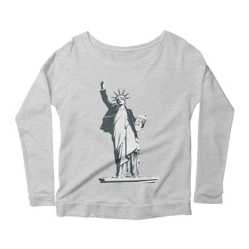 Statue of Libernie Women's Scoop Neck Longsleeve T-Shirt by Bernie Threads