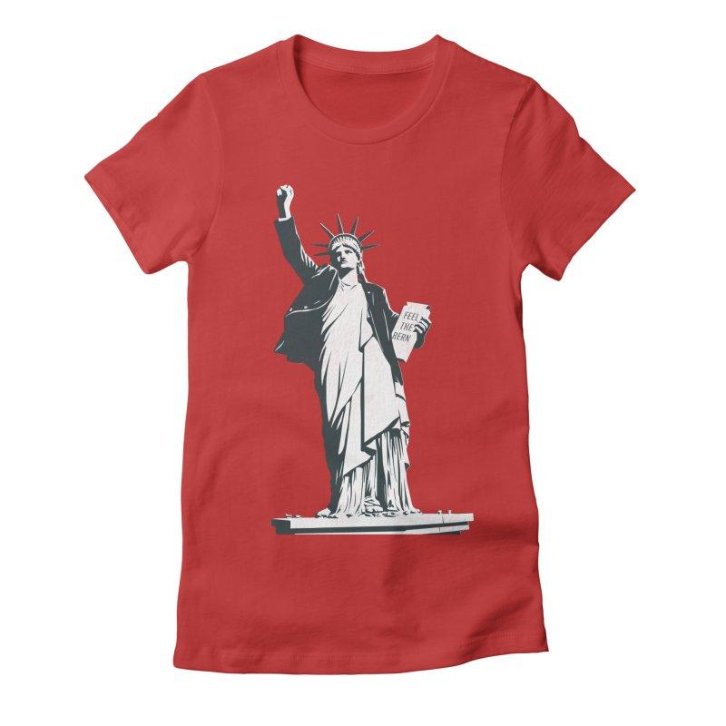 Statue of Libernie Women's Fitted T-Shirt by Bernie Threads
