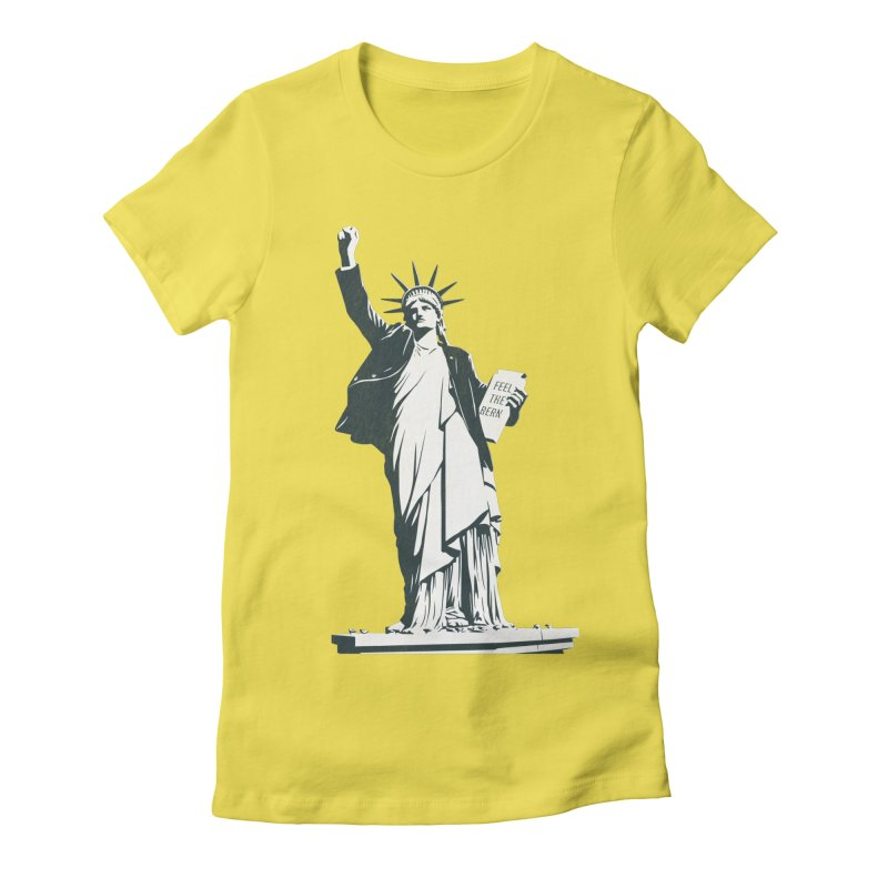 Statue of Libernie Women's Fitted T-Shirt by Bernie Threads