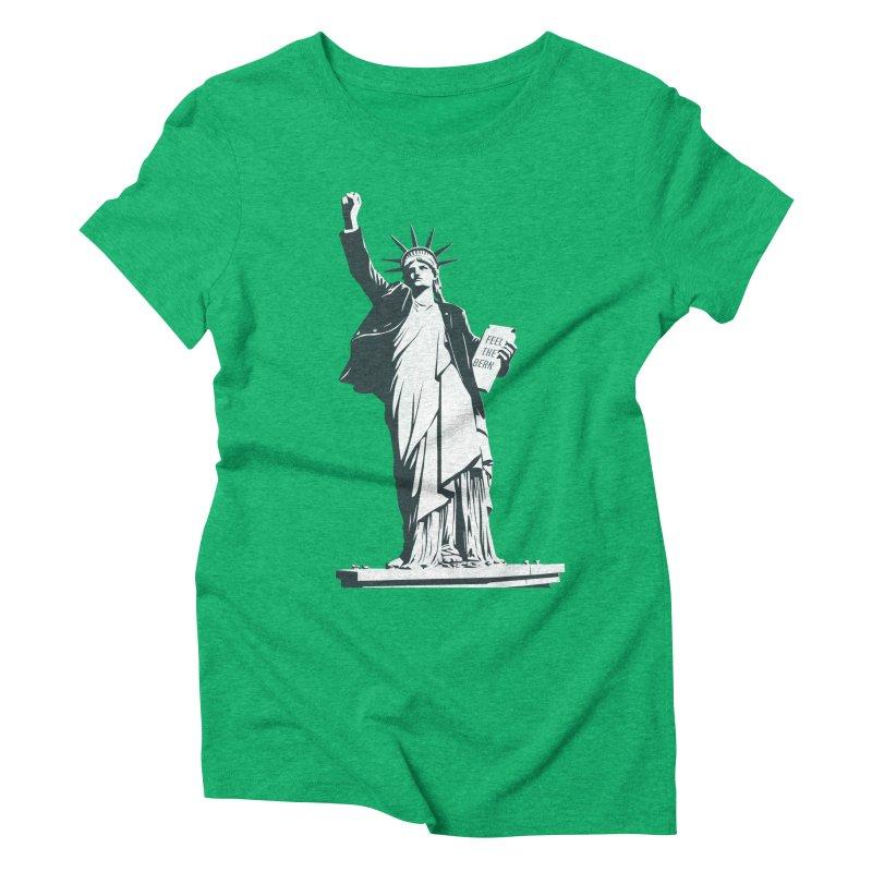 Statue of Libernie Women's Triblend T-Shirt by Bernie Threads