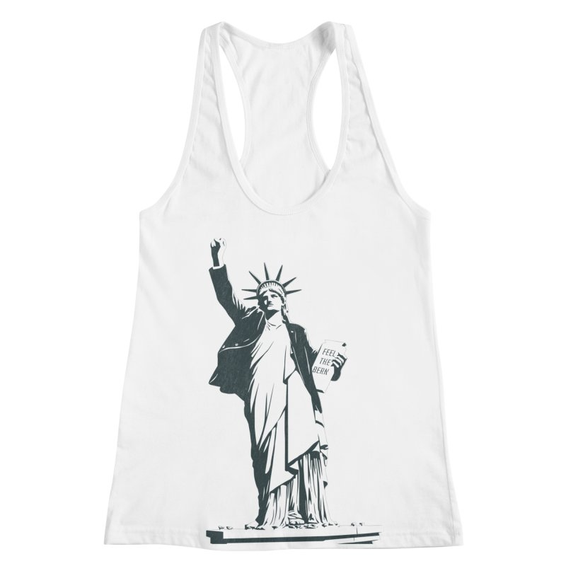 Statue of Libernie Women's Racerback Tank by Bernie Threads