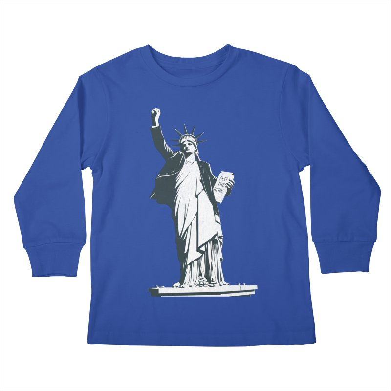 Statue of Libernie Kids Longsleeve T-Shirt by Bernie Threads