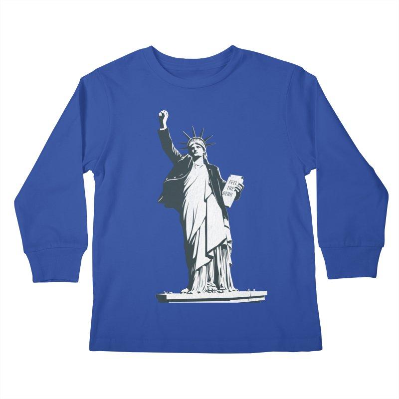 Statue of Libernie Kids Longsleeve T-Shirt by Bernie Threads