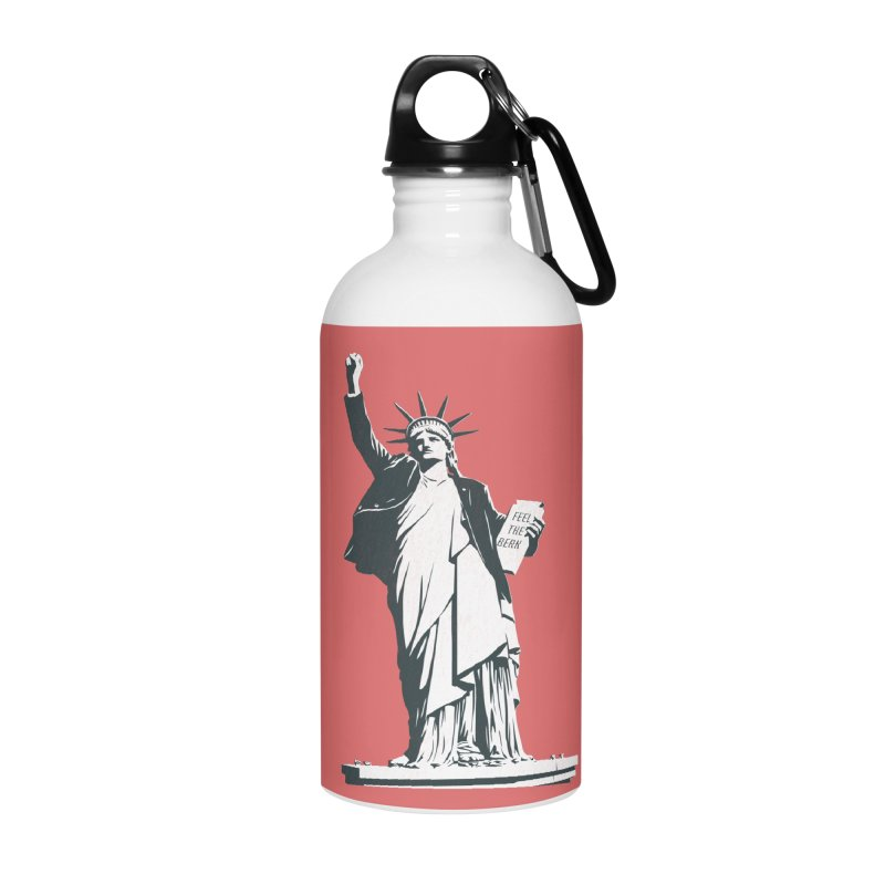 Statue of Libernie Accessories Water Bottle by Bernie Threads