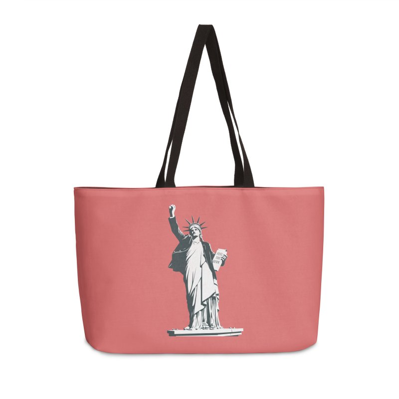 Statue of Libernie Accessories Weekender Bag Bag by Bernie Threads