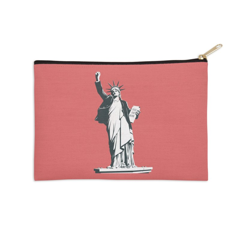 Statue of Libernie Accessories Zip Pouch by Bernie Threads