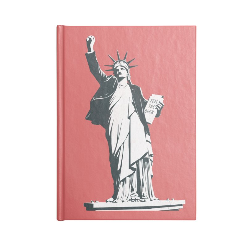 Statue of Libernie Accessories Lined Journal Notebook by Bernie Threads