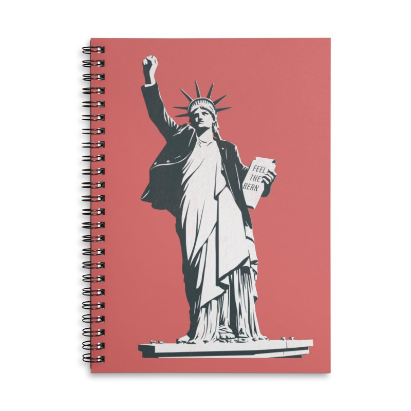 Statue of Libernie Accessories Lined Spiral Notebook by Bernie Threads