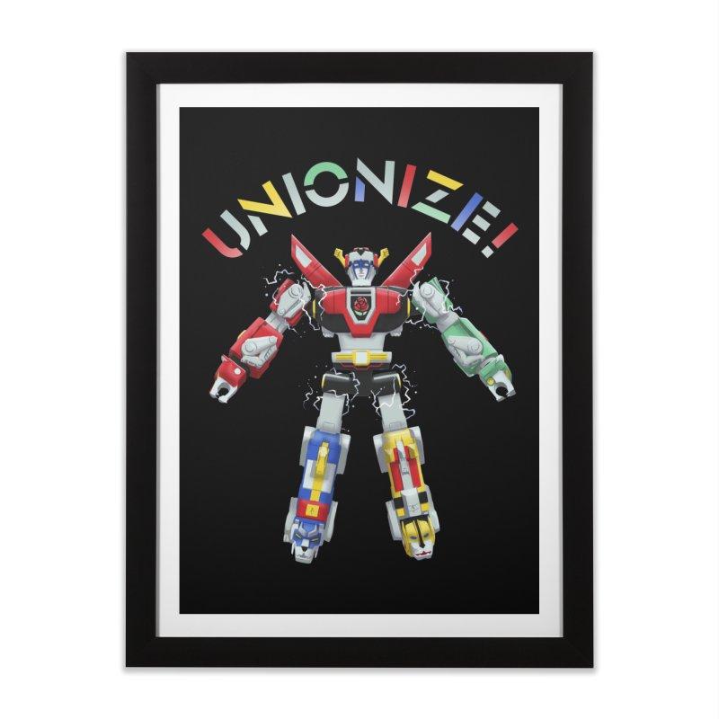 Unionize! Home Framed Fine Art Print by Bernie Threads