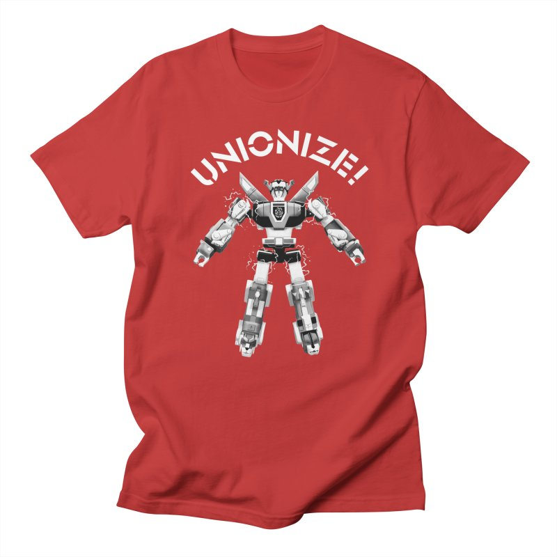 Unionize! in Men's Regular T-Shirt Red by Bernie Threads
