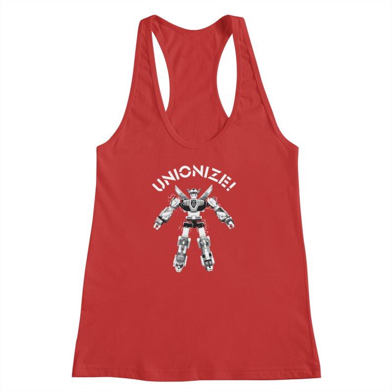 Unionize! Women's Racerback Tank by Bernie Threads