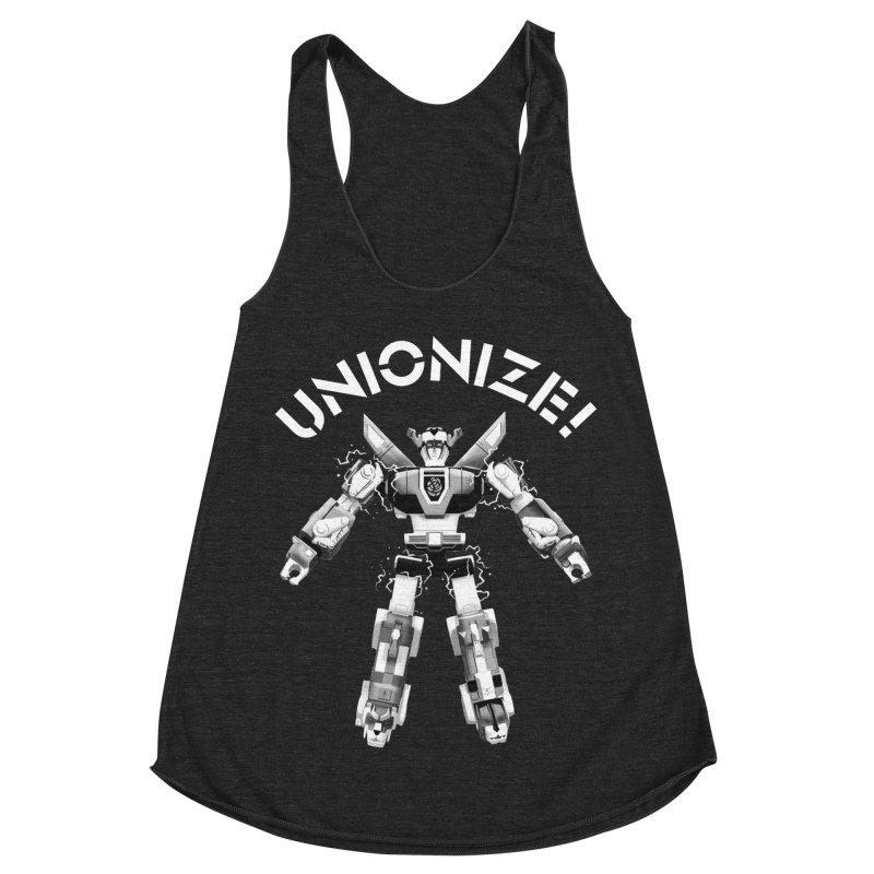 Unionize! Women's Racerback Triblend Tank by Bernie Threads