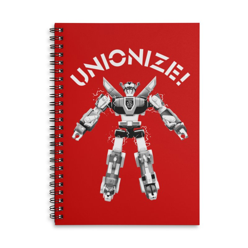 Unionize! Accessories Lined Spiral Notebook by Bernie Threads