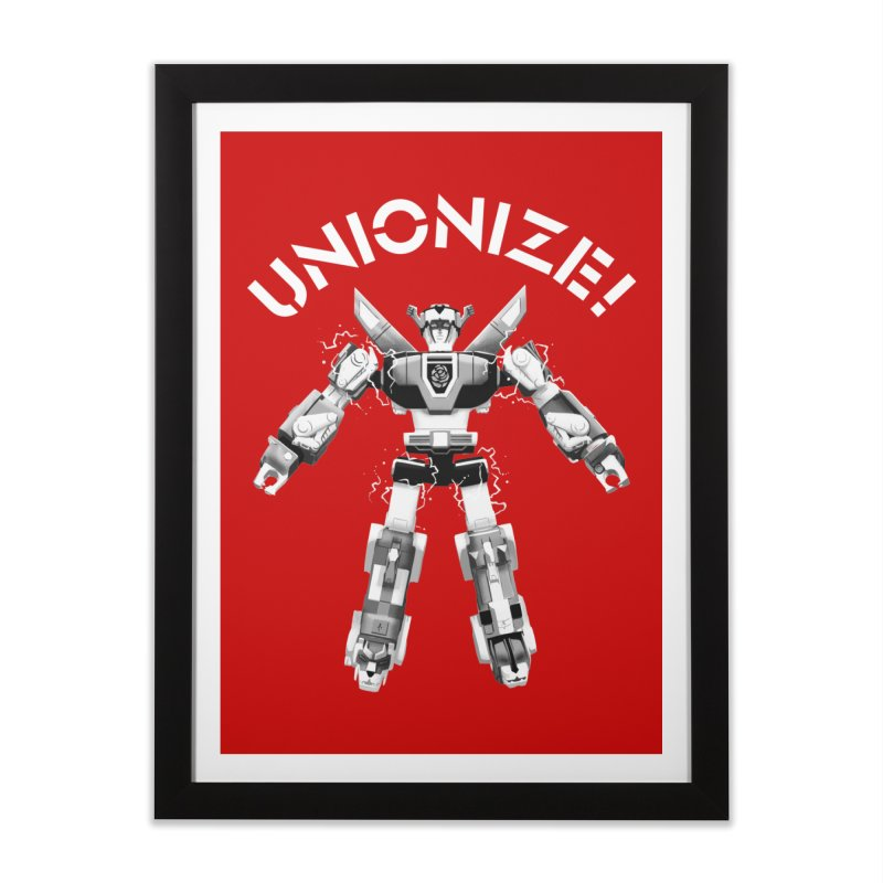 Unionize! Home Framed Fine Art Print by Bernie Threads