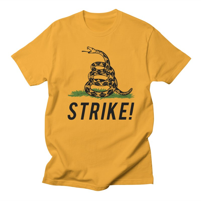 Strike! in Men's Regular T-Shirt Gold by Bernie Threads