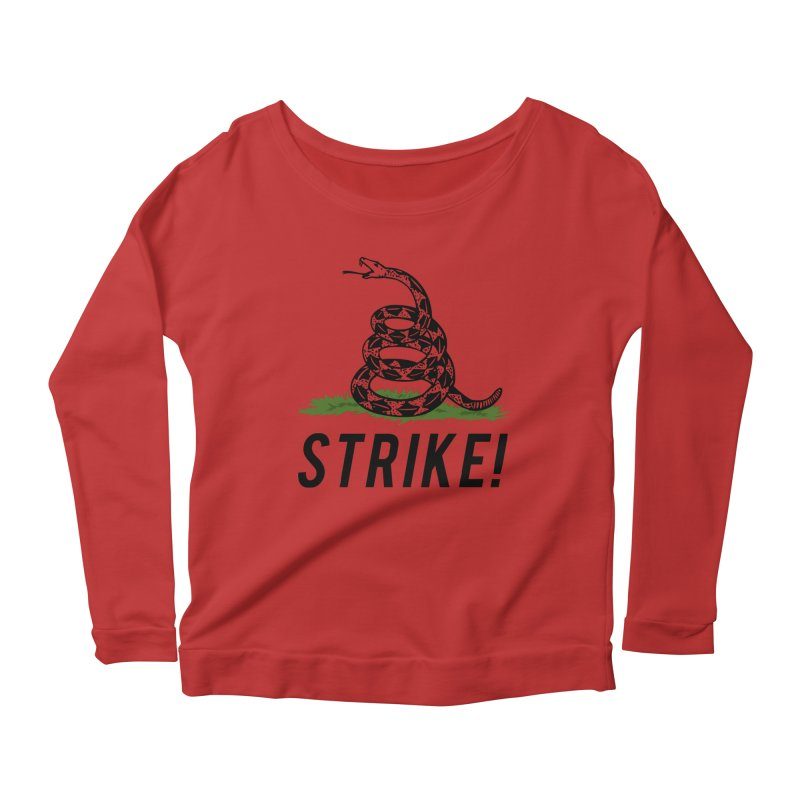 Strike! Women's Longsleeve Scoopneck  by Bernie Threads