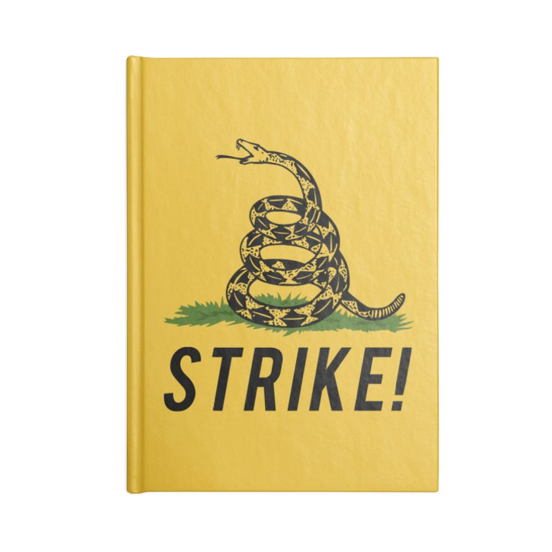 Strike! Accessories Lined Journal Notebook by Bernie Threads