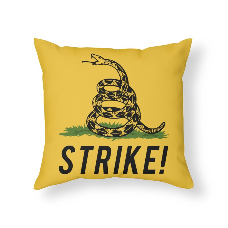 Strike! Home Throw Pillow by Bernie Threads