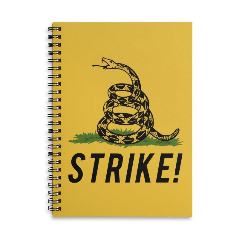 Strike! Accessories Lined Spiral Notebook by Bernie Threads