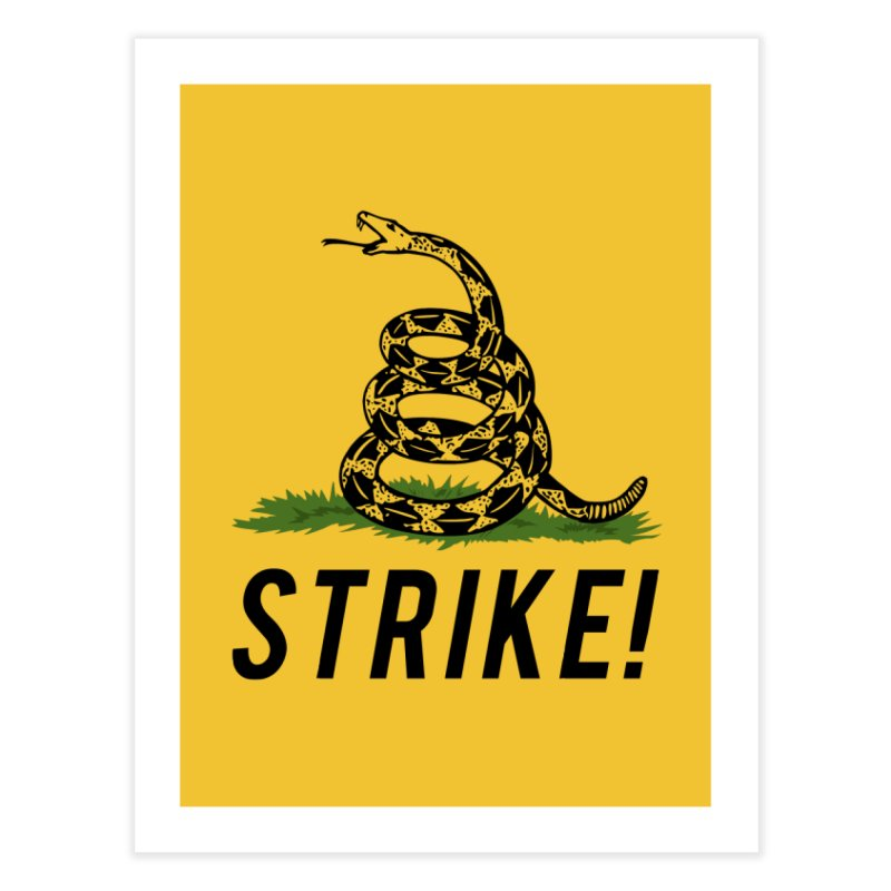 Strike! Home Fine Art Print by Bernie Threads
