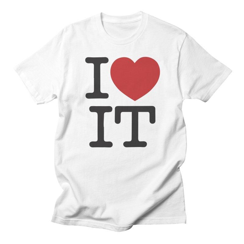 I ❤ IT in Men's Regular T-Shirt White by Bernie Threads