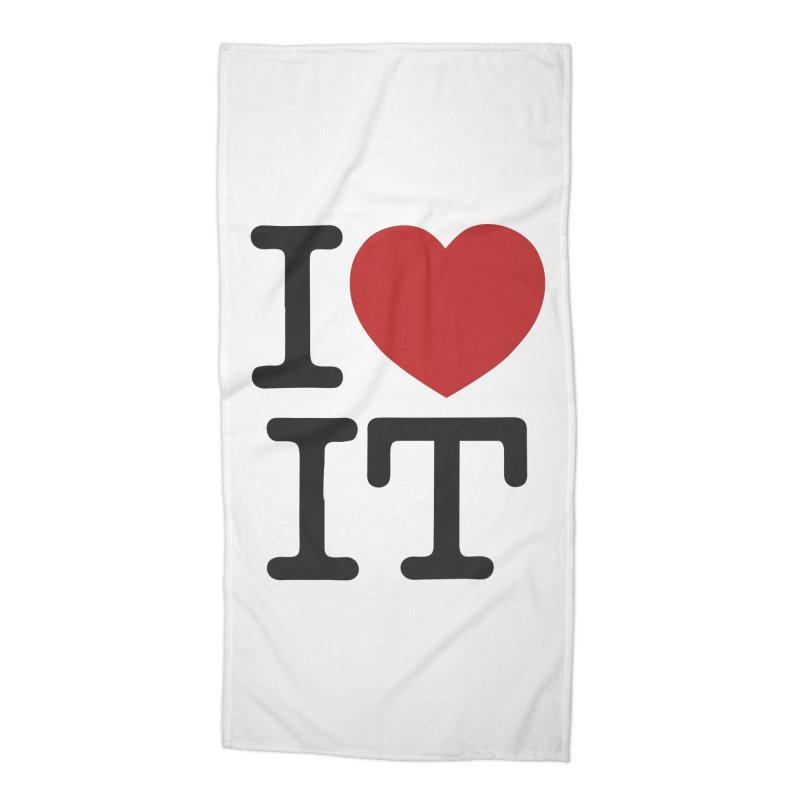 I ❤ IT Accessories Beach Towel by Bernie Threads
