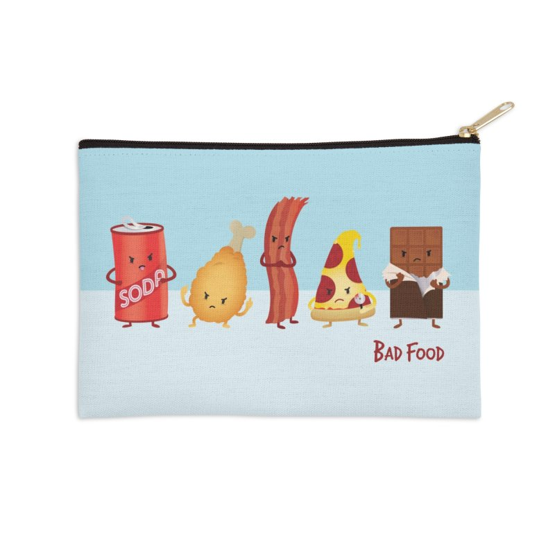 Bad Food Accessories Zip Pouch by Beryl Design Shop