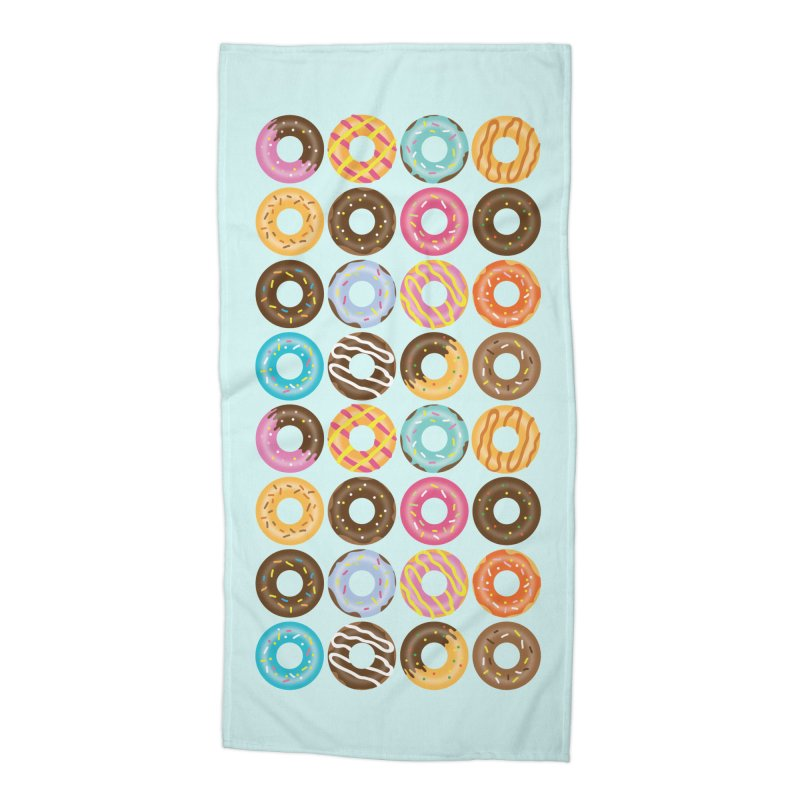 Yummy Donut Accessories Beach Towel by Beryl Design Shop