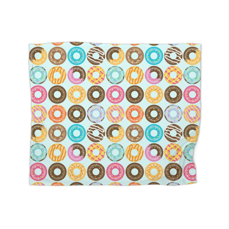 Yummy Donut Home Fleece Blanket Blanket by Beryl Design Shop