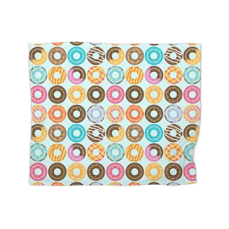 Yummy Donut Home Fleece Blanket Blanket by Beryl Design Shop