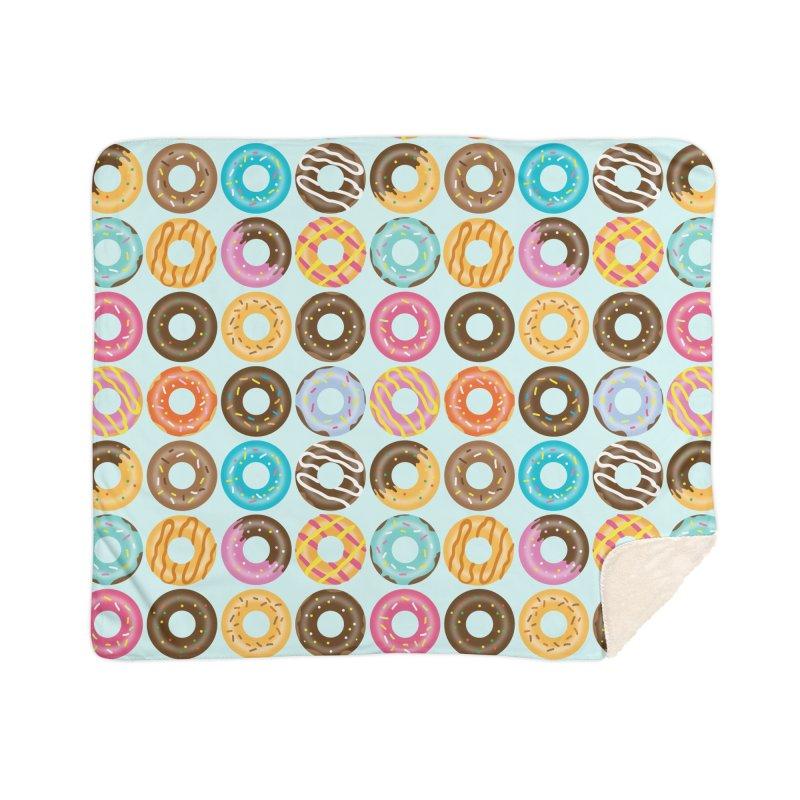 Yummy Donut Home Sherpa Blanket Blanket by Beryl Design Shop