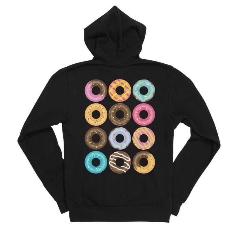 Yummy Donut Women's Sponge Fleece Zip-Up Hoody by Beryl Design Shop