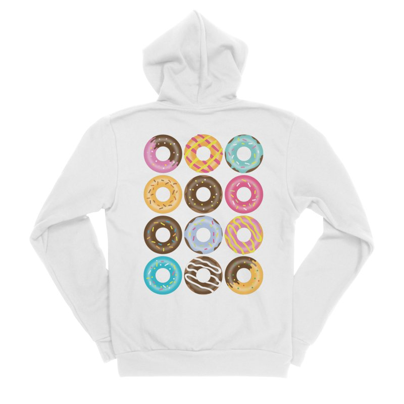 Yummy Donut Men's Sponge Fleece Zip-Up Hoody by Beryl Design Shop