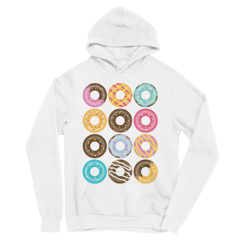 Yummy Donut Men's Sponge Fleece Pullover Hoody by Beryl Design Shop